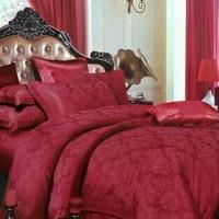 Bedcover set kain king koil 160x200x30 pilih warna