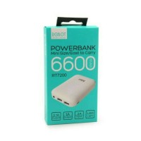 Vivan Robot RT7200 6600mAh 2 USB Ports Power Bank / white