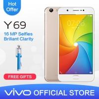 Vivo Y69 Gold Baru bukan bekas atau Demo Live Masih SEGEL garansi 2thn