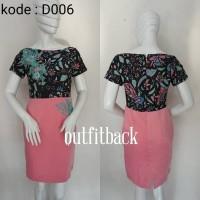 Dress Batik Maxmara Dengan Aplikasi Bordir