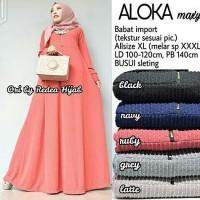 Gamis Muslim Polos Babat / Maxi Dress Busui XXL Lucu Murah