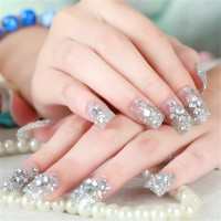 NA011 - Kuku Palsu 3D/ Nail Art / Fake Nails Wedding For Bride Murah