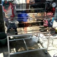 oven gas + termo ukuran 90 x 55 x 70 stenlis