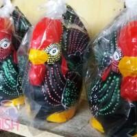 Celengan Ayam Hitam size 33cm Tembikar Tanah Liat Bakar