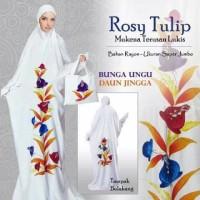 Mukena Bali LUKIS ABAYA ROSY TULIP Terusan Motif Bunga Super Jumbo