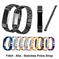 Fitbit Alta /HR Stainless Steel Polos Strap Tali Jam Band Smart Watch - Purple