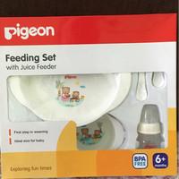 feeding  set with juice feeder pigeon