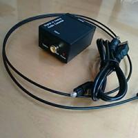 digital audio converter to analog + kabel optik (optik to RCA)