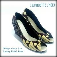Wedges cincin 7 cm batik parang klithik klasik by silhouette size 39