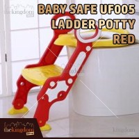 Baby Safe UF005 Step Ladder Potty Red Kursi Toilet Training Anak Merah