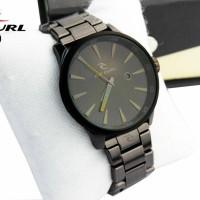 Jam Tangan Pria Formal Murah Ripcurl A2860 Kualitas Premium Full Black