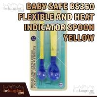 Baby Safe BS350 Flexible & Heat Indicator Spoon Yellow Sendok Makan
