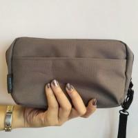 Unisex Pouch Dompet Tas Clutch For Makeup Mobile Phone Organizer - Biru