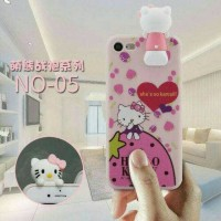 Oppo A57 Case 3D Intip Hello Kitty Soft Case Casing Karakter Oppo A57