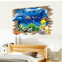 3D Wallpaper Sticker Dinding 90 x 60cm - WPP001 - Ikan Koi