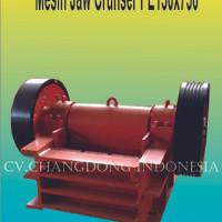 Mesin Jaw Crusher PE150x750 ( Penghancur Batu )