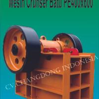 Mesin Jaw Crusher PE400x600 ( Penghancur Batu )