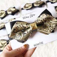 dasi kupu bowtie import gold BATIK SQUARE
