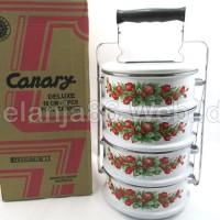 Food Carrier 4 layer / rantang enamel 4 susun Panda Maspion 18cm