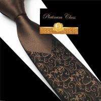 dasi pria import slim coklat batik platinum class