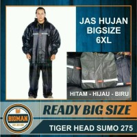Jas Hujan super BESAR JUMBO - Jas hujan Extra Large sumo tiger XXXXXXL