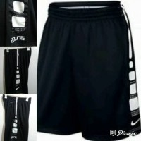 Celana Basket training Nike Elite Stripe Hitam Putih Grade Original - Hitam, M