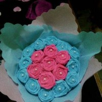 buket bunga flanel ukuran S