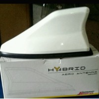 Antena Sirip Hiu Hybrid Putih JS Racing Shark Fin / Antena