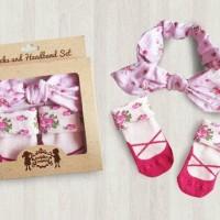Petite Mimi - Socks and Headband Set FLORAL PINK