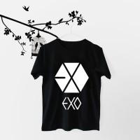 Tumblr Tee / T-Shirt / Kaos Wanita Lengan Pendek EXO LOGO Warna Hitam