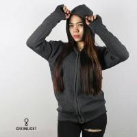 jaket ariel cotton wanita darkgrey