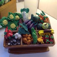Miniatur clay buah dan sayur display