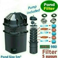 kolam ikan filter external jebo 980