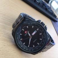 Jam Tangan Pria Swiss Army SA5117M Premium Full Black