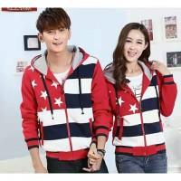 Jacket Bintang Lima Merah