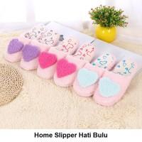 Sendal Rumah Hati Bulu Sandal Kamar Home Slipper Slippers Indoor - 38-39, Blue