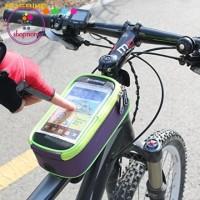 Tas Frame Sepeda / Tas Tempat Penyimpanan HP Di Sepeda