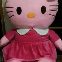 BONEKA HELLO KITTY JUMBO 80cm SNI BISA CUCI! SUPER QUALITY!!! - Merah