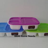 Ompreng / Tempat Makan / Lunch Box Murah 3 Sekat Foodgrade