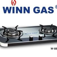 Kompor Tanam Winn Gas Kompor Gas 2 Tungku Glass W888 W 888