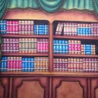 Background Foto Wisuda / Rak Buku WJII-1237 Studio Photo