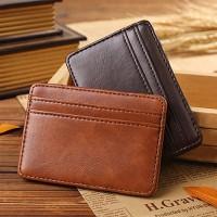 Magic Wallet Card Holder Leather Dompet Pria Bifold Kulit