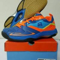 Sepatu Badminton RS JF 792 Blue/Orange - Original Promo