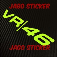 Cutting Sticker / Stiker Helm Visor VR 46 Valentino Rossi
