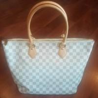 Authentic Louis Vuitton Damier Azur Saleya MM Tote Bag LV Preloved