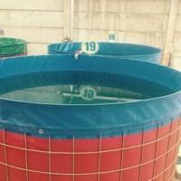 terpal kolam bulat D 1,5x1 bahan semi karet