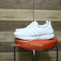 Sepatu Adidas Ultra Boost Full White Putih Pria Wanita Laki Perempuan