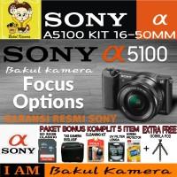 SONY ALPHA A5100 / PAKET KOMPLIT SONY ALPHA A5100