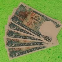 Uang kertas kuno langka Antik Asli Rp500 rupiah hewan rusa tahun 1988