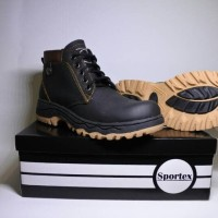 safety shoes by sportex type knop - Hitam, 39